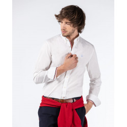 CAMISA CLASSIC SLIM FIT EN COLOR BLANCO DE EL GANSO.